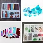 Pendant Mold Resin Casting Jewelry Mould Craft Waterlines Shaped Clear Silicone