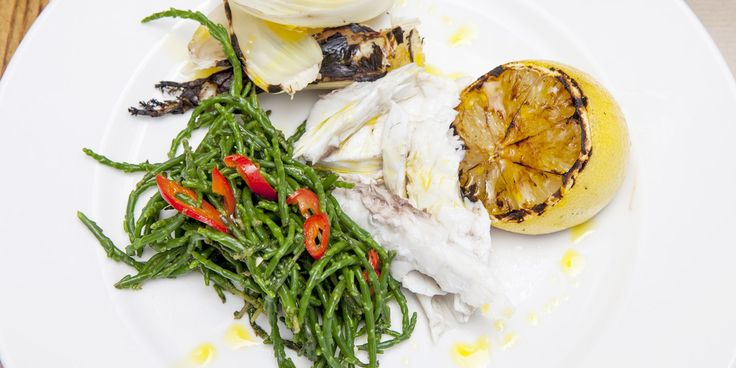 Adam Byatt stuffs black bream with lemongrass, star anise and dill before wrapping in a banana leaf and cooking on the barbecue - a perfectly simple summer recipe.
