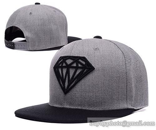 Diamond Supply Co Snapback Hats Caps Gray Black 2