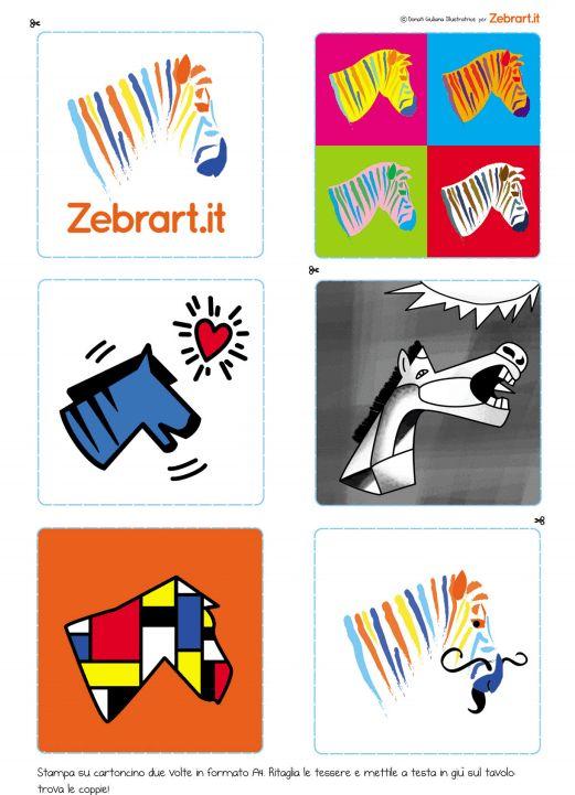 Giochi per bambini gratis: il memory delle zebre!
