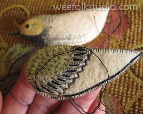 warbler tutorial from my favorite illustrator Sally Mavor http://weefolkstudio.com/2012/10/14/birds-of-beebe-woods-warbler/