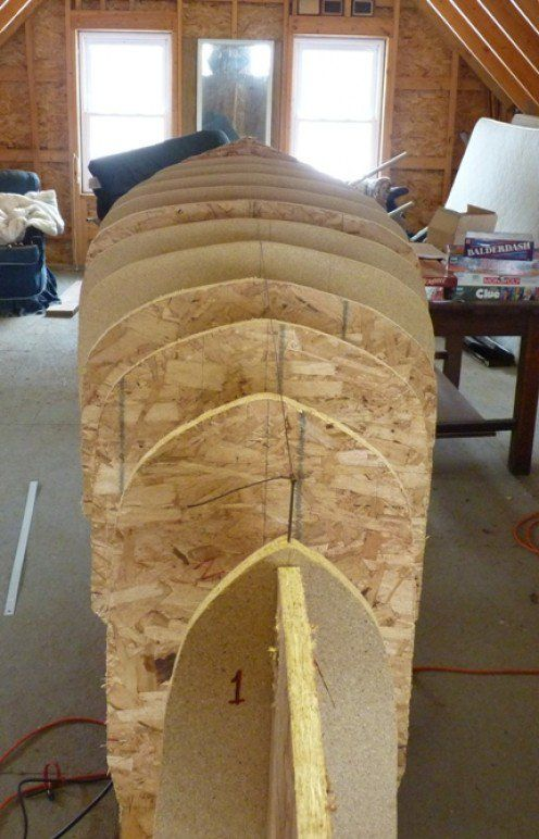 "A description of how to create the a jig for making a stip canoe. Making the Forms. Expansion of ""Building a Cedar Strip Canoe: The Basics"". More details this time."