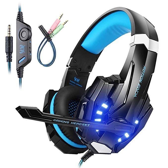 Mengshen Gaming Headset For Ps4 Xbox One Xbox One S Pc Mac Laptop Cell Phone Gaming Headphone With Mic Led Light Bass Surround Noise Cancelling Soft Ea Gaming Headphones Gaming Headset Headphones With
