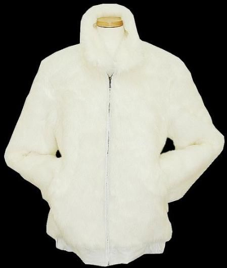 Check out this Mens White Faux Fur Jacket for only US $199. Buy more save more. Buy 3 items get 5% off, Buy 8 items get 10% off.