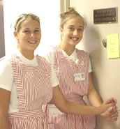 Candy stripers!  I was a candy striper as a teen.