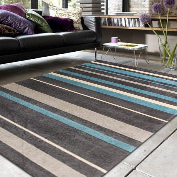 City 554 Blue FOUR SIZES NEW Modern Floor Rug Carpet FREE DELIVERY[110cm,160cm]