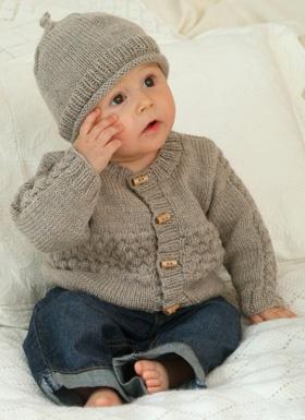 Strikket cardigan til baby