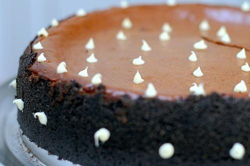 Чизкейк с горьким шоколадом и карамелью #Десерты #Рецепты ...