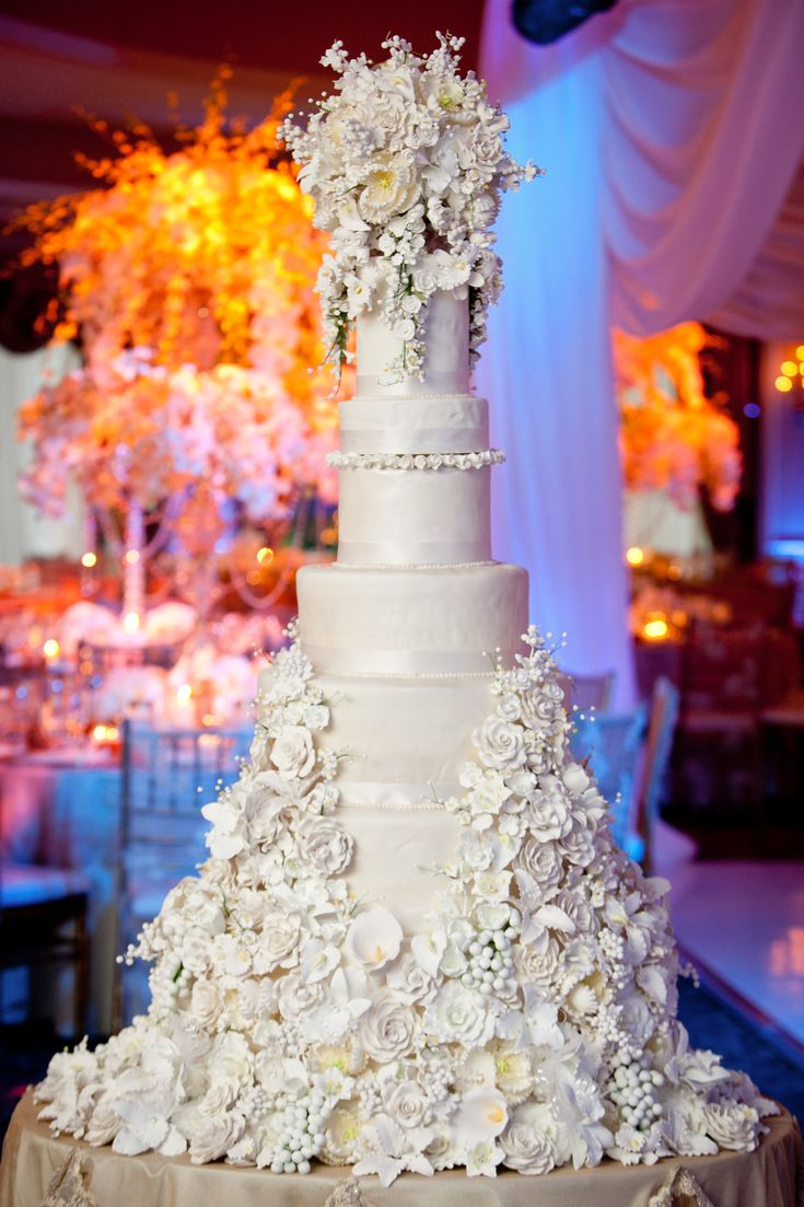 tall with a skirt of frosting florals wedding cake | Cakes and such ...