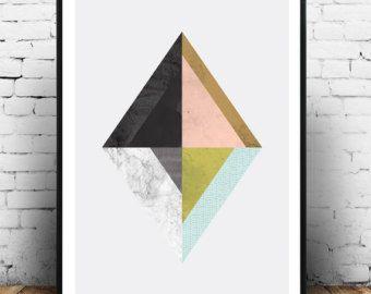Geometrische poster, print, minimalistische kunst aan de muur van de abstracte, Scandinavisch design, roze en zwart, aquarel kunst, moderne kunst, home decor, boho  Beschikbare afmetingen: 5 x 7 8 x 10 11 x 14 A4 210 x 297 mm (8.3 x 11,7 inch) A3 297 x 420 mm (11,7 inch x 16.5 inch) -Kies uit het drop-downmenu hierboven!  Indien u intresse heeft in elke grootte die is niet beschikbaar, neem contact met ons op.    INFO:  Prints zijn gedrukt op 240gsm Matt archivering fotopapier  Verzonden in…