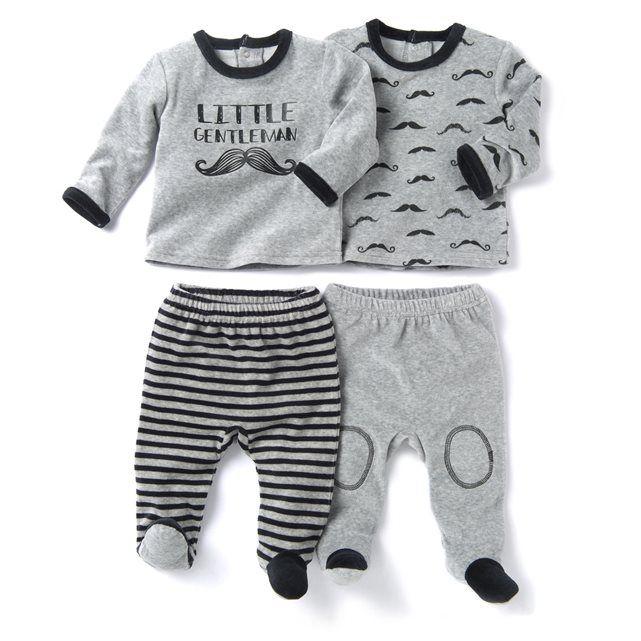 2-delige pyjama in fluweel (set van 2) R baby