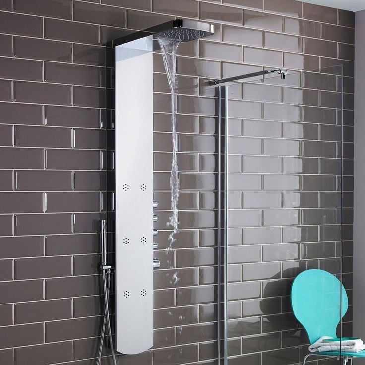 create a designer look with this shower panel - Shower Tower