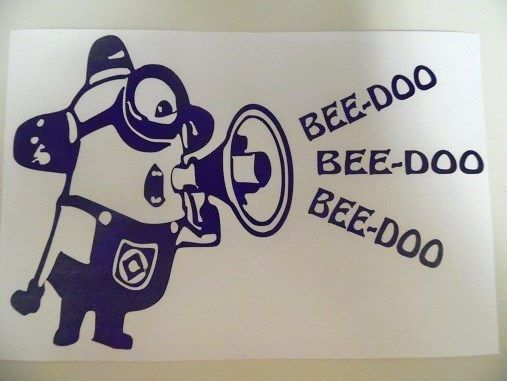 Minion Despicable Me Beedoo Funny Car Truck Window Vinyl Decal Sticker | eBay