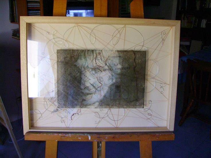Massimo Capogna - Artist:  Ritratto di Maria Lai olio su vetro.