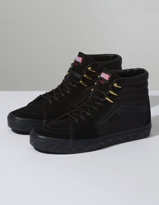 5bc30d907fe654 VANS x Marvel Black Panther Sk8-Hi Shoes WANT😱😱