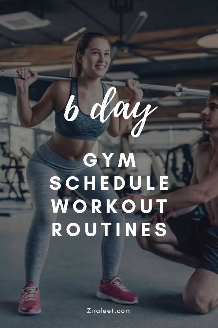 6 Day Good Gym Schedule Workout Routines: Full Guide – workout plans