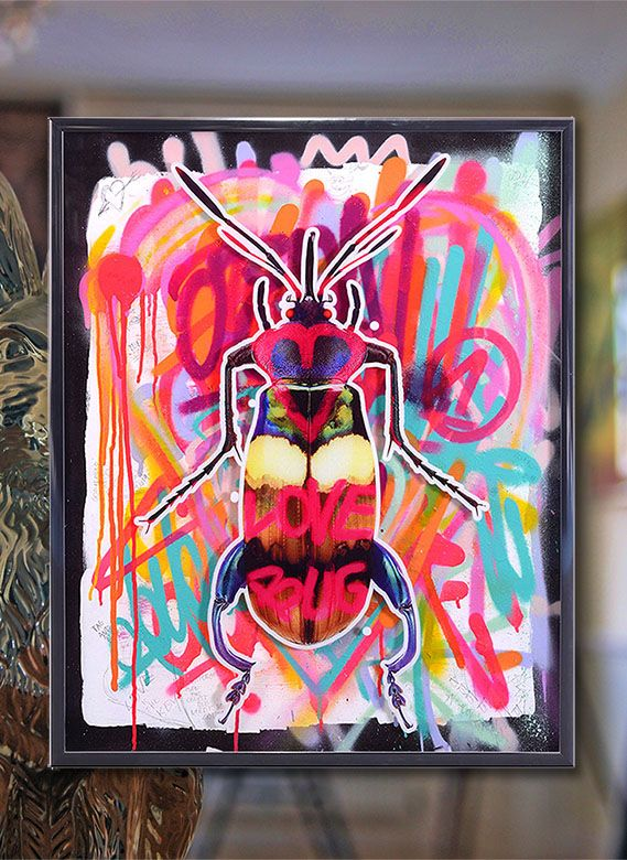 Art works for sale by Dominic Vonbern | Beetle art | Street art | Urban art