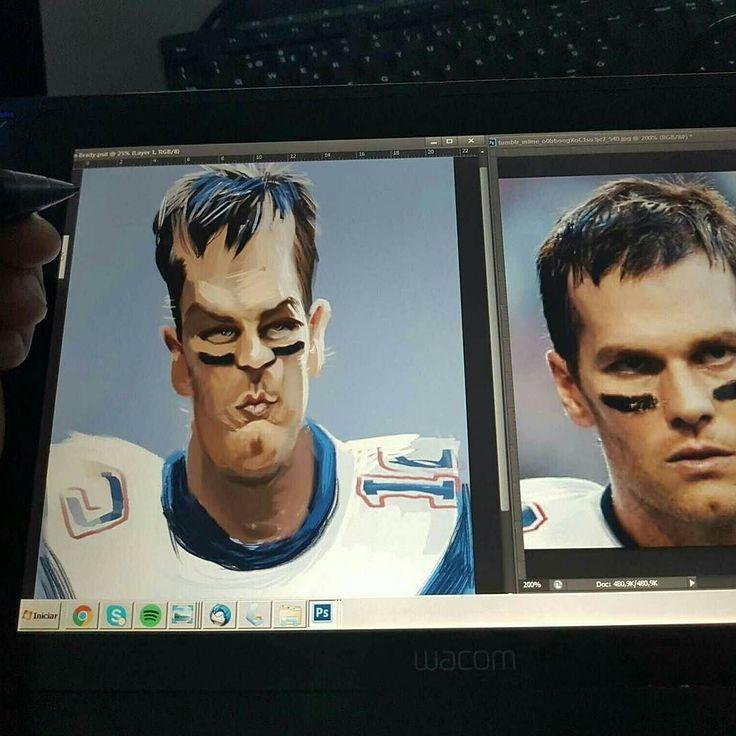 Tom Brady @tombrady #caricature #sketch #tombrady #patriots #superbowl