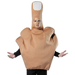 Middle Finger Costume $59.98........this screams my husband for Halloween!