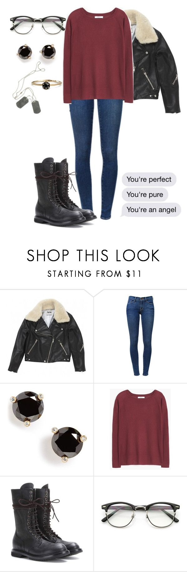 """You're an angel"" by dreams-of-a-samurai ❤ liked on Polyvore featuring Acne Studios, Frame, Kate Spade, MANGO, Rick Owens and Satomi Kawakita"