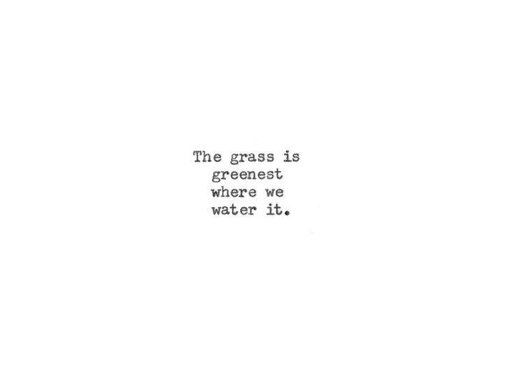 Typewriter Quote Card - Underwood Typewriter - GRASS IS GREENEST - 3.5 x 5 white 110# cardstock by WritersWire on Etsy https://www.etsy.com/listing/494464797/typewriter-quote-card-underwood