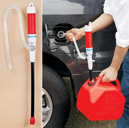 Siphon - in a disaster aftermath when fuel is no longer available through regular channels and cars are left abandoned on the road never to be used again, this is an option for garnering fuel for emergencies