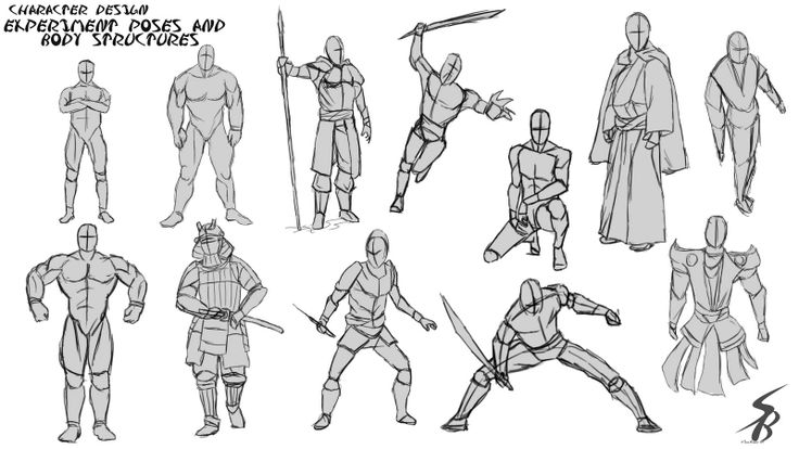 Character Design Poses : Sean banford experiment poses and body structures the
