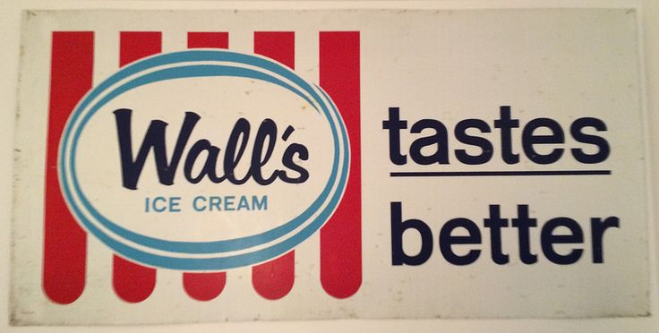 Large Walls Ice Cream Tin Sign