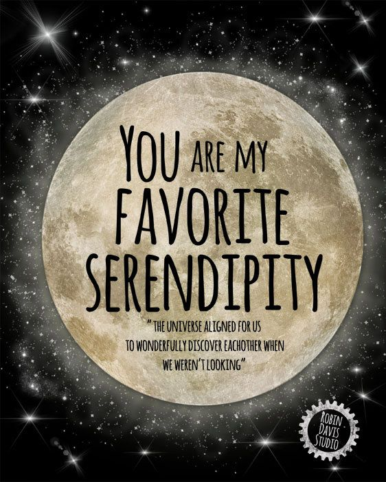 Serendipity quote gift- Wedding Gift - Bride and Groom gift - Inspirational quote print -Engagement gift - Boyfriend Gift -Robin DavisStudio