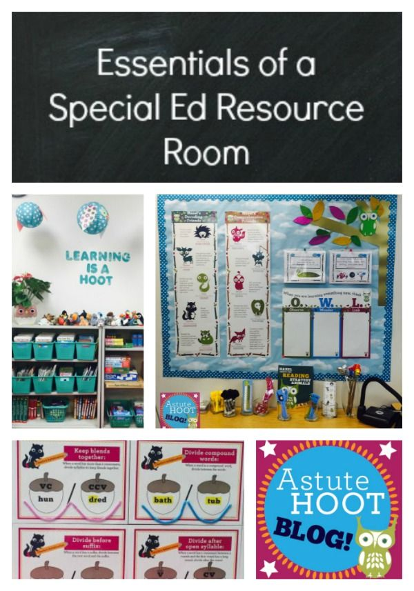 Essentials of a Special Education Resource Room: After I accepted my new position as a K-3 Special Education Resource Teacher, I quickly got to work in planning out my new classroom. I considered student need, layout, materials, and decor to prepare my room. I'm thrilled to share these 3 essential components of my new classroom with you!