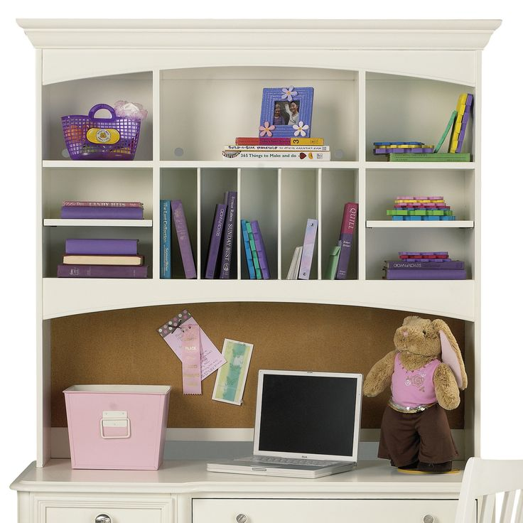buildabear pawsitively yours desk hutch in vanilla
