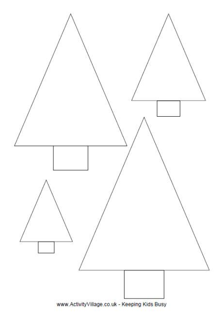 Christmas tree template