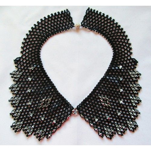 Black and Silver Collar