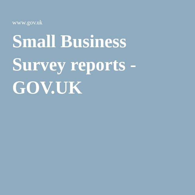 Small Business Survey reports - GOV.UK
