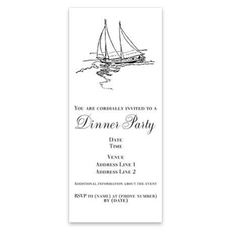 Sailboat Drawing Invitations on CafePress.com