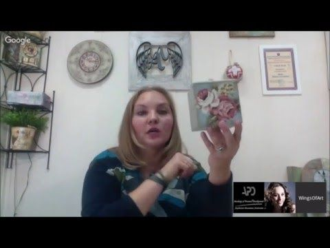 Декор коробочки, декупаж тканью: видео мастер-класс Аллы Мавриной Меловые краски - YouTube