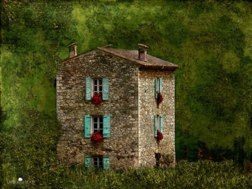 I would love to live here: Old House, Stones Cottages, Dreams Home, Red Flower, Things Turquoi, Turquoi Shutters, Flower Boxes, Provence France, Stones House