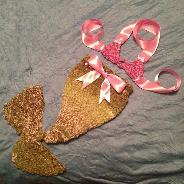 Baby Mermaid Tail.  $40+shipping. Contact me if you want one made for you.
