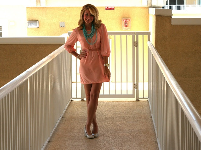 Just Dandy by Danielle: Outfit | Peach Dress