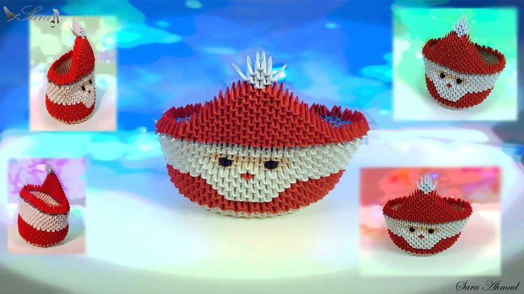 How To Make Origami Box Santa Claus