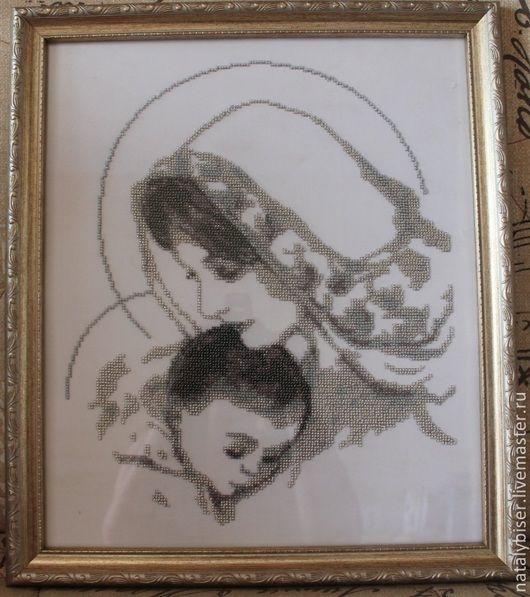 Иконы ручной работы. Ярмарка Мастеров - ручная работа. Купить Дева Мария с Младенцем. Handmade. Серебряный, дева Мария