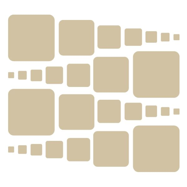 Beige Rounded Squares Vinyl Wall Decals #stickers #decals #decalvenue