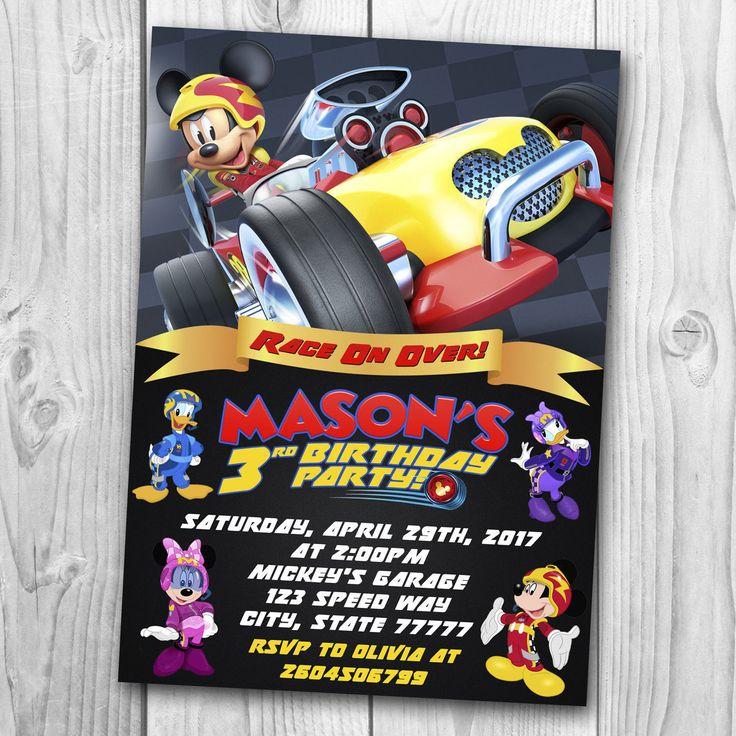 Mickey y la invitación de los corredores de Roadster Mickey