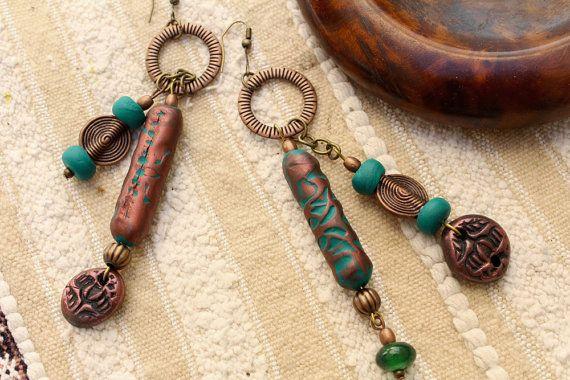 Boucles d'oreilles boho-chic western tribal par MesOdalisques