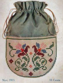 Foto tasje 1915 - zelf patroon uitgewerkt van foto
