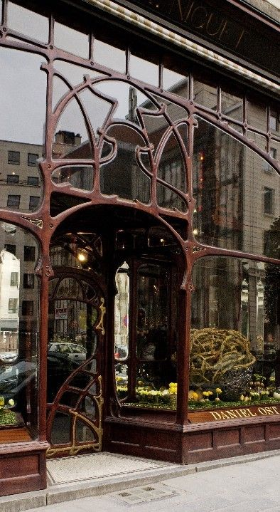 Art Nouveau architecture, Brussels, Belgium - the former Niguet shirt shop, today a flower shop