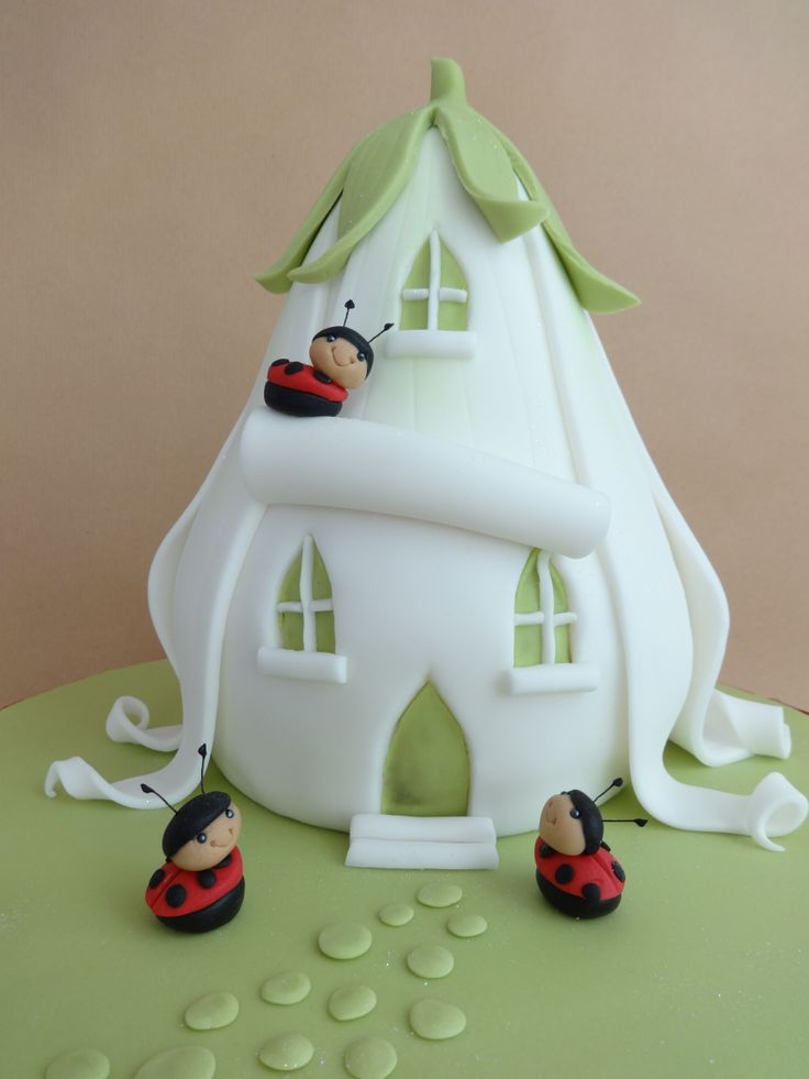Ladybird House Cake - This a design by the wonderful Debbie Brown - made for my little neighbour Amelia :-)