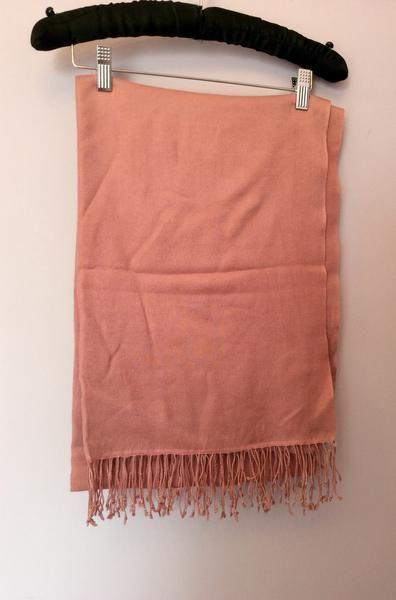 BRAND NEW DUSKY PINK PASHMINA WRAP - Whispers Dress Agency - Womens Scarves & Wraps