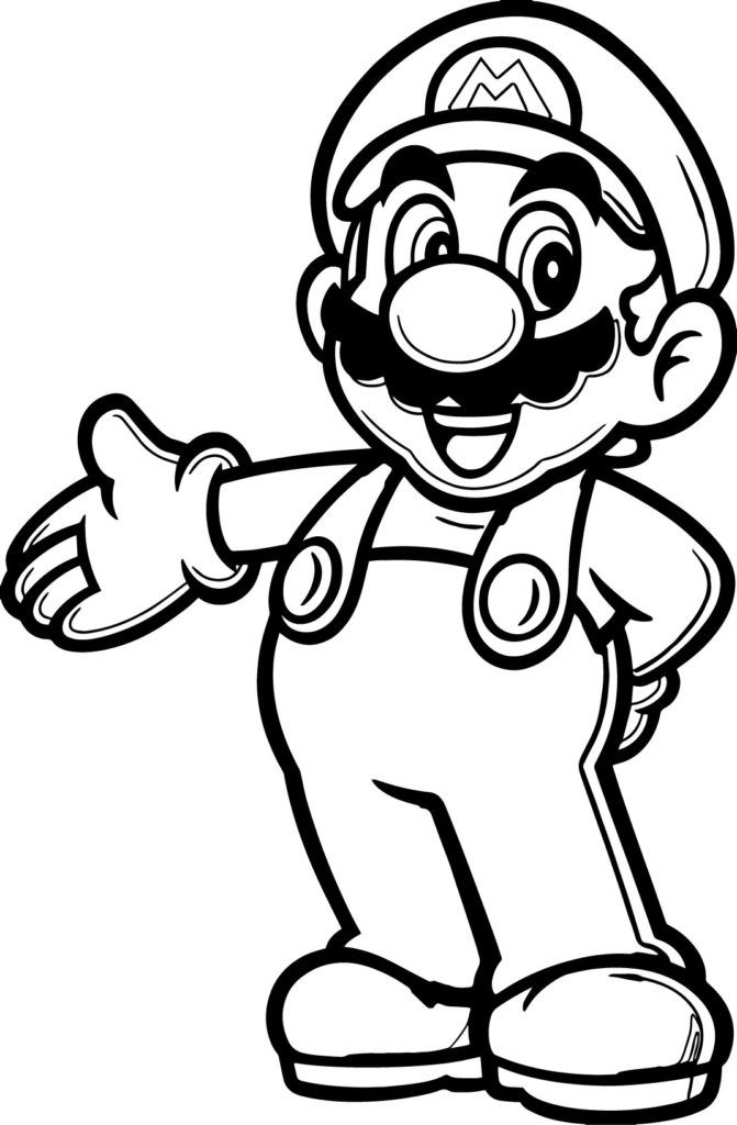 graphic regarding Printable Mario Coloring Pages titled Mario Coloring Webpages Video clip Video game Coloring Internet pages Mario