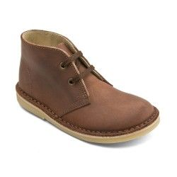 Medium Brown Leather Lace-up Classic Children's Boots